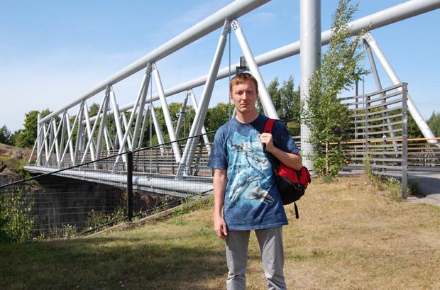 Мост над железной дорогой в Хельсинки