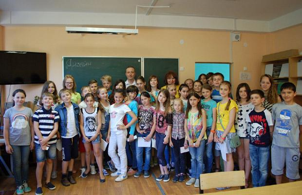 Встреча с учениками школы №10