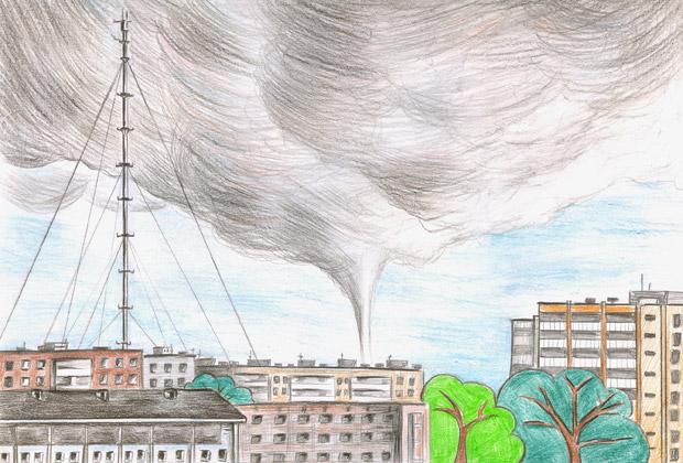 Рисунок Ольги: торнадо в Обнинске